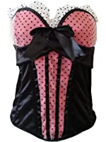 aimerfeel belle polkdot rouge sexy CACE corset, taille 40-42