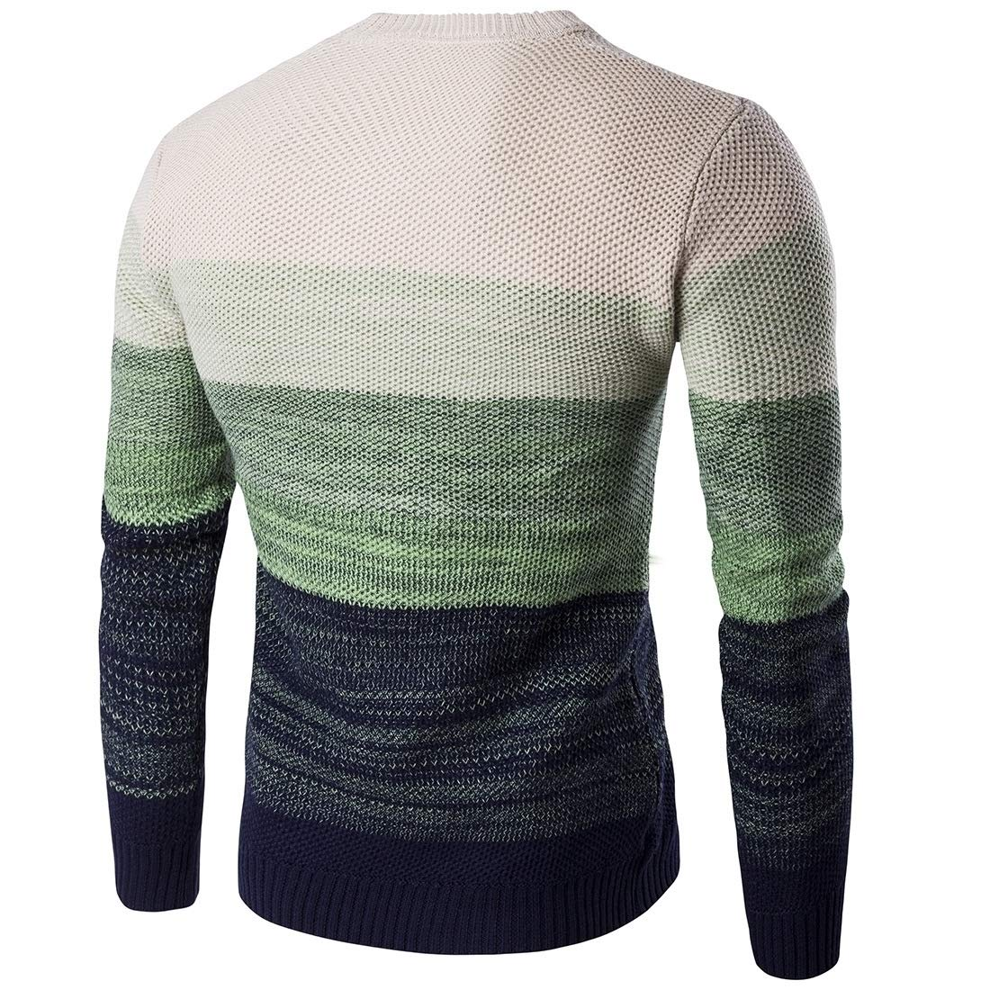 Sankt Men Spell Color Striped Relaxed-Fit Classic Pullover Sweater Tops