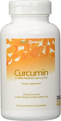 Vital Choice Curcumin in Wild Alaskan Salmon Oil – 250mg 120 ct
