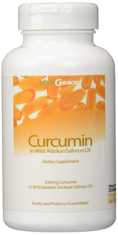 Vital Choice Curcumin in Wild Alaskan Salmon Oil – 250mg 120 ct