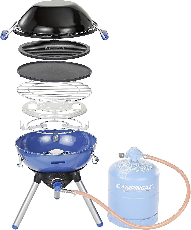 CAMPINGAZ Party Grill 400 - Barbacoa (2000 W, Barbacoa de Contacto, Gas Natural, Piezo, Azul, Alrededor)