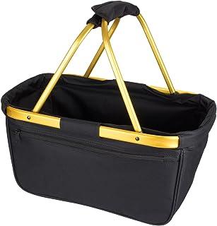 noorsk Einkaufskorb faltbar aus Stoff toll als Faltkorb Einkaufstasche oder Picknickkorb