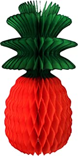 product image for 3-Pack 13 Inch Honeycomb Pineapple Party Decoration with Green Leaves (Orange)