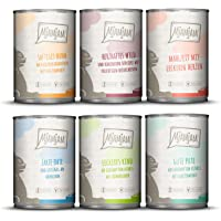 MjAMjAM Premium Våtfoder för Katter- 2,4 kg (6 x 400 g), Mix Pack III vild & kanin, kalkon, anka & fjäderfä, hjärta…
