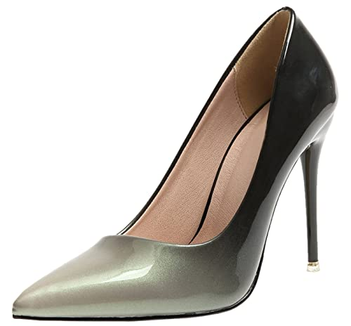 5a1ecad2ddea8 Spitze Zehen Pumps Von BIGTREE Damen High Heels Kleid Pumps Gradients  Stiletto Schuhe