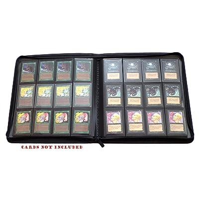 docsmagic.de Premium 12-Pocket Playset Zip-Album Black - 480 Card Binder - Magic: The Gathering - Pokemon - Yu-Gi-Oh! - Álbum para Tarjetas Negra: Juguetes y juegos