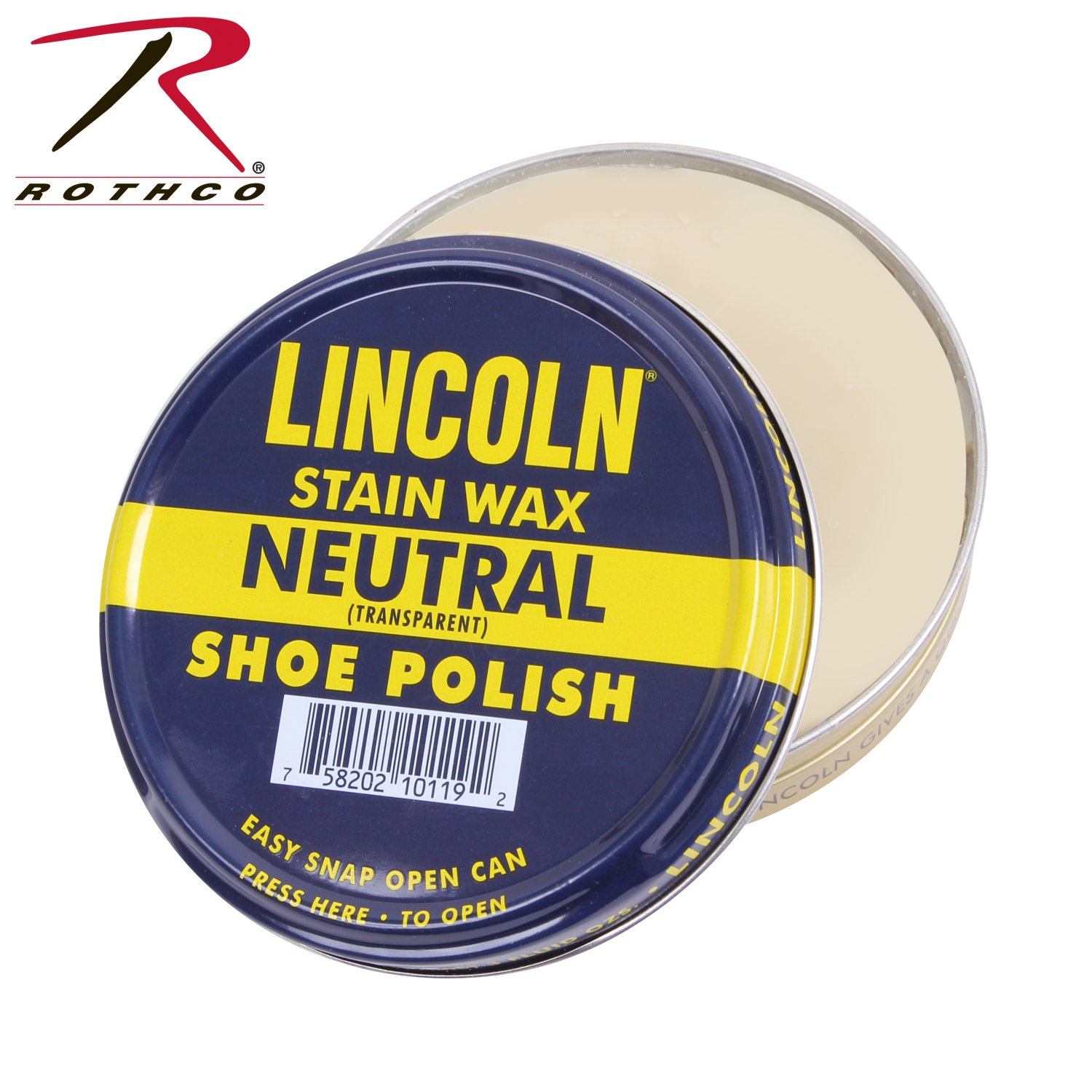 Lincoln Shoe Wax Polish 3 Fl Oz (Neutral)