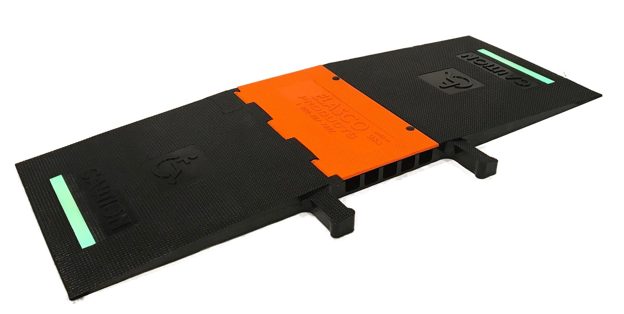 Heavy Duty Five Channel ADA (Americans with Disabilities Act Cable Ramp) 5 channels (Black & Orange Glow)