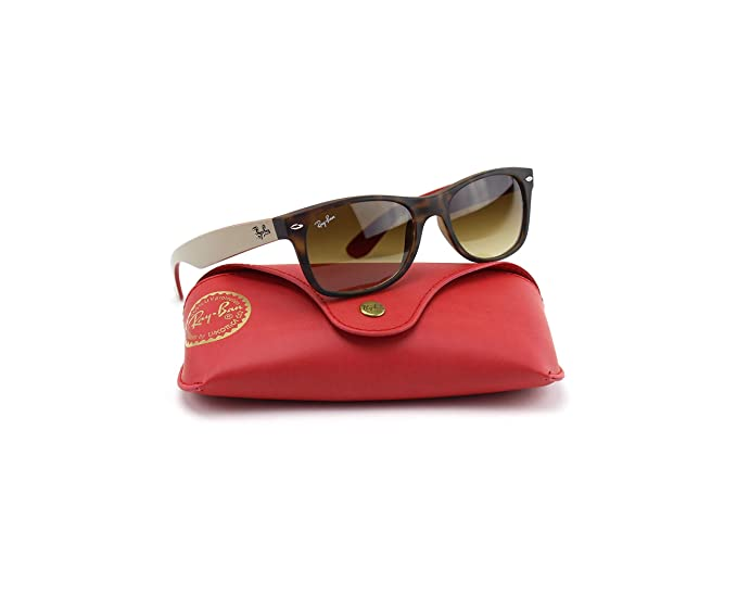 Amazon.com: Ray-Ban rb2132 618185 Wayfarer Matte havana ...