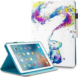 iPad Mini Case Powertion Slim iPad 7.9 Cover Case Smart iPad Case Mini 2 Smart iPad Mini 4 Case Lightweight iPad Protective Cover Stand w/Auto Wake/Sleep Wallet for 7.9'' iPad Mini 5/4/3/2/1,Elephant