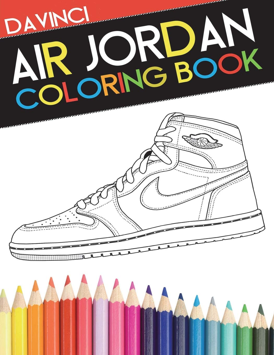 Air Jordan Coloring Book Sneaker Adult Coloring Book Davinci