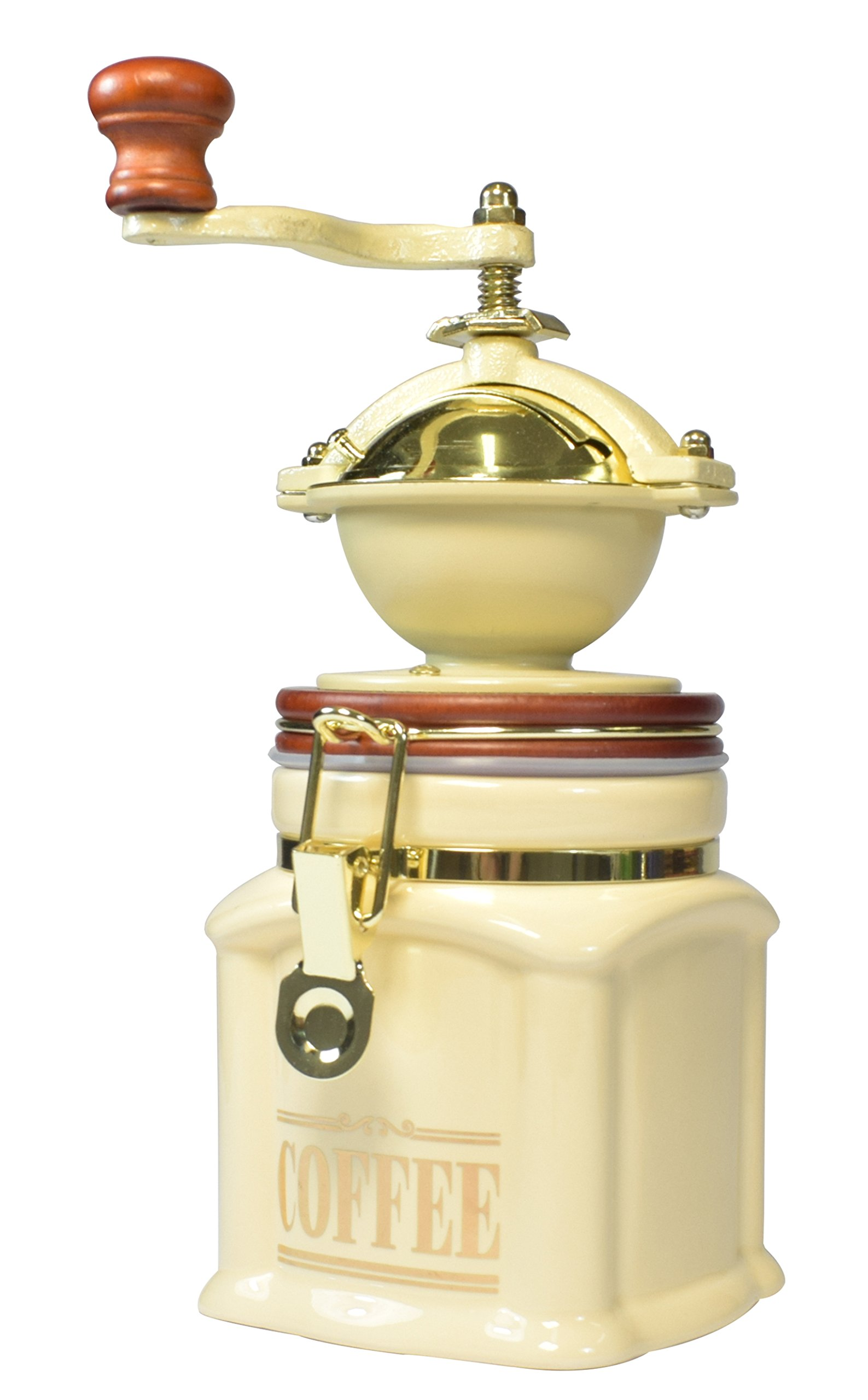 Bisetti 61531 Vivalto Coffee Grinder, Cream