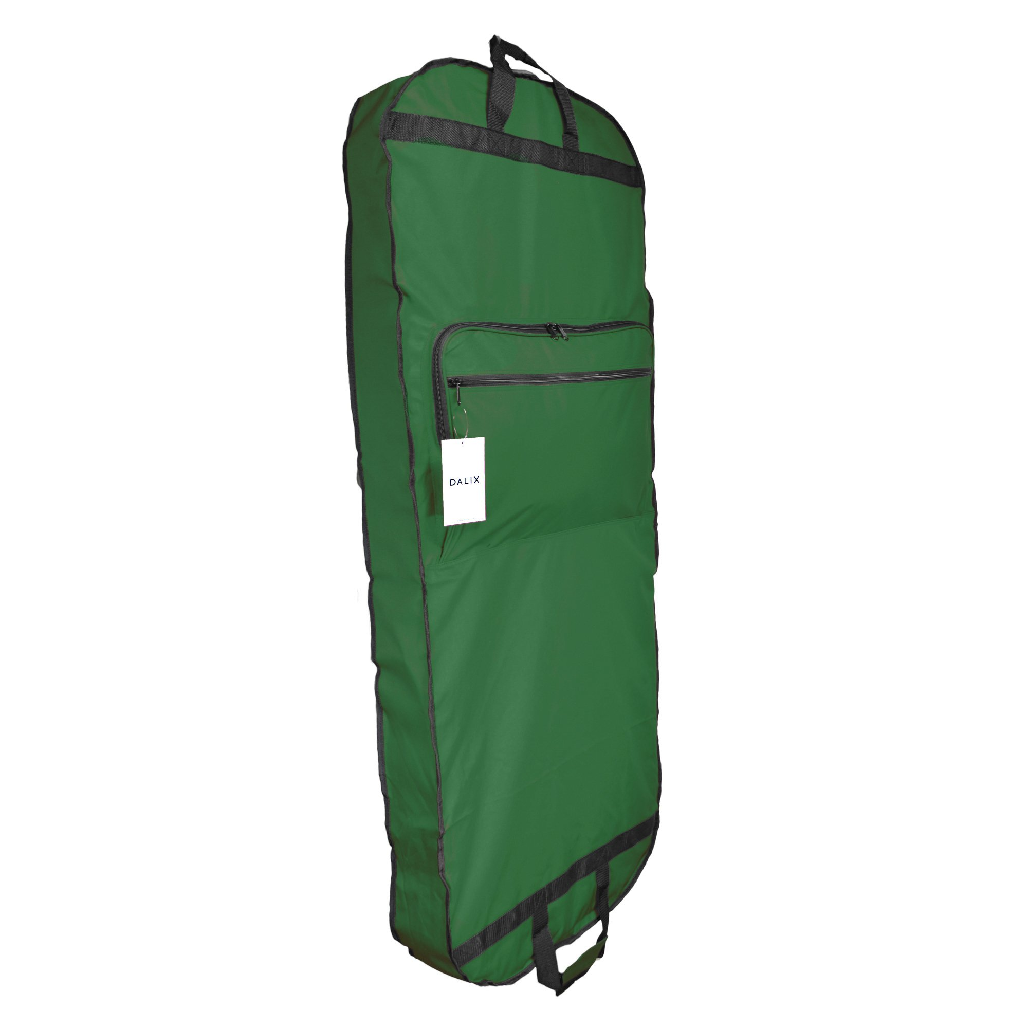 DALIX 60'' Professional Garment Bag Cover for Suits Pants & Gowns Dresses (Foldable) (Dark Green)