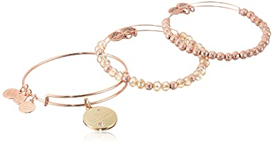 Amazoncom Alex and Ani Holiday Cheers Set of 3 Rose Gold Charm