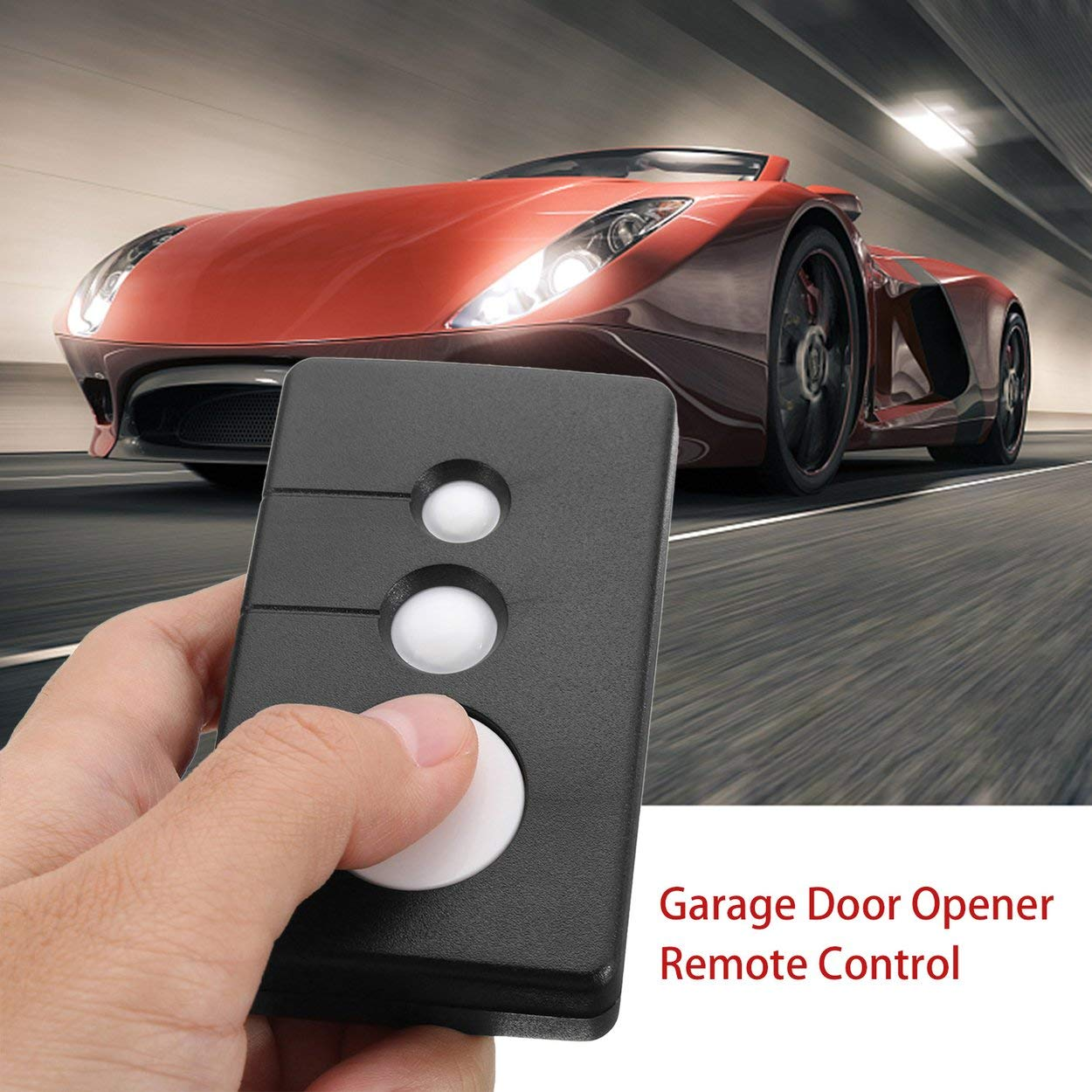 Small Size 3 Keys 390MHz Garage Door Remote Opener Suitable for Sears Craftsman Chamberlain LiftMaster 3BTN CNluca
