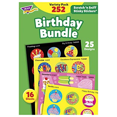 TREND enterprises, Inc Birthday Bundle Stinky Stickers Variety Pack, 252/Pack: Industrial & Scientific