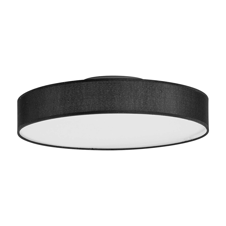 Deckenlampe Grau offener Zylinder Schirm 5-flmg Leuchte Wohnzimmer Modern