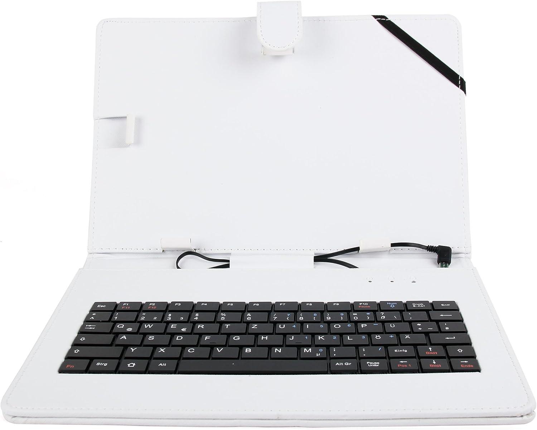 Host Funktion//On-The-Go DURAGADGET Gr/üne Kunstleder-Schutzh/ülle Deutsche QWERTZ Tastatur Mikro USB geeignet f/ür 10 Zoll Tablets mit OTG Funktion
