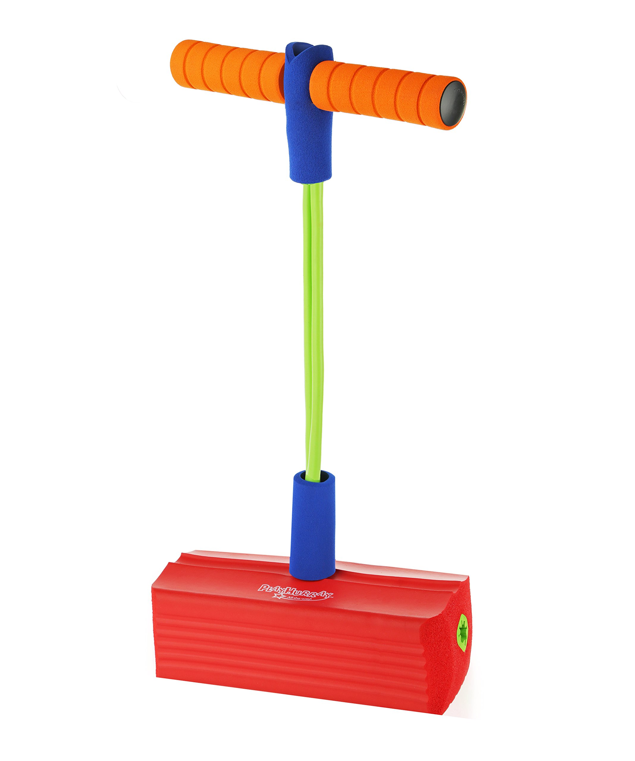 PlayHurray The Original Foam Pogo Jumper for Kids 100% SafePogo Stick, Strong Bungee Toy for Toddlers, Fun Foam Hopper for Children Boys/Girls, Squeaks with Each hop! Supports up to 250lbs. by PlayHurray