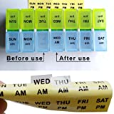 Daily Medication Reminder Date Label Sticker