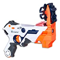 Nerf - Laser Ops - Electronic AlphaPoint Blaster - The Ultimate Laser Game - Blaster, Armband, Solo Attachment & Instructions - Ages 8+