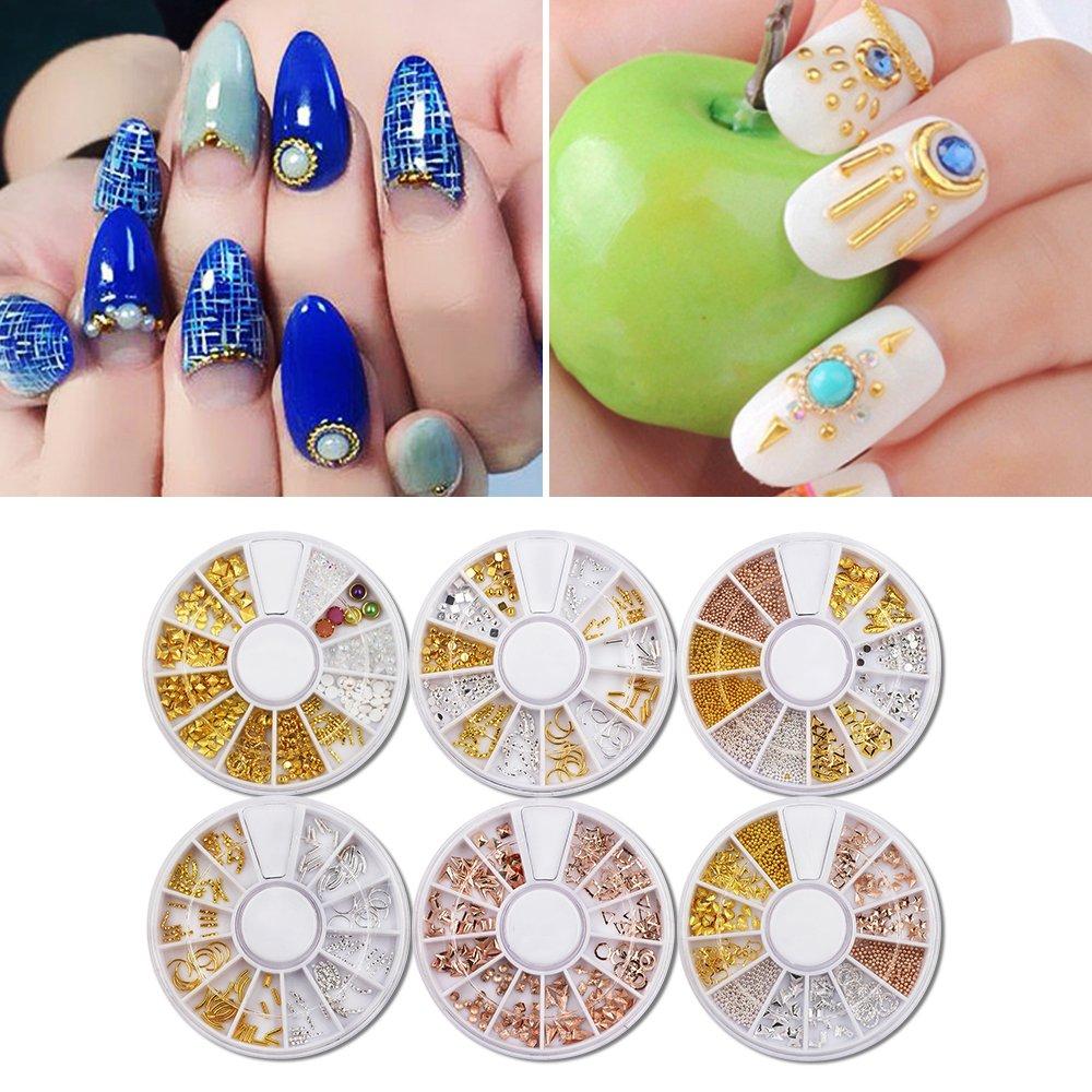 Amazon.com: MEILINDS 3D Nails Art Decoration Mini Micro Ball Beads ...