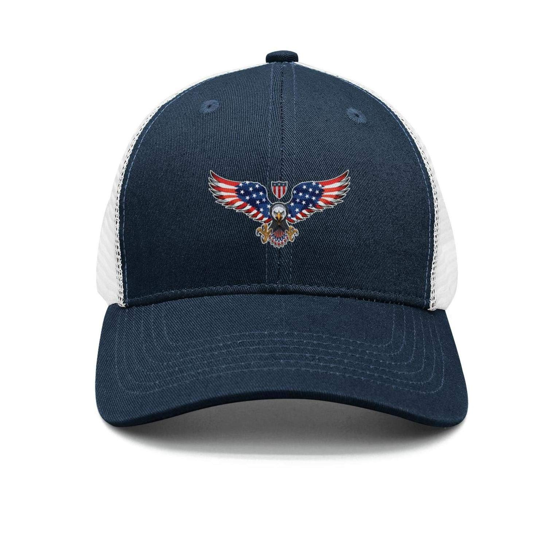 TopCrazy USA Flag Wing and Heart Sports Hats Men//Women Street Dancing Baseball Cap