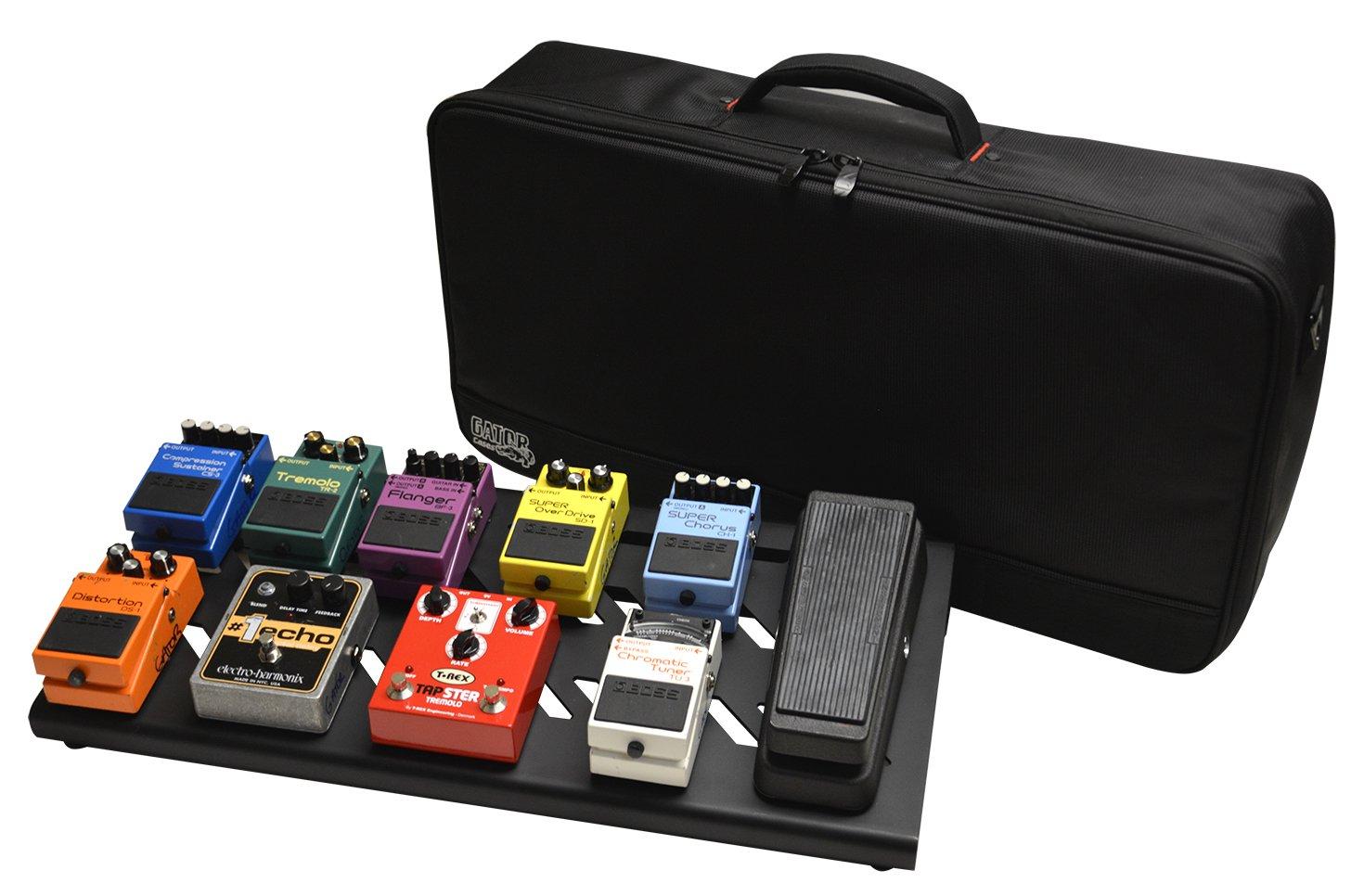 Gator Cases GPB-BAK-1 Aluminum Pedal Board with Carry Bag, Large, Stealth Black