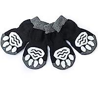 Harfkoko Pet Heroic Anti-Slip Knit Dog Socks&Cat Socks with Rubber Reinforcement, Anti-Slip Knit Dog Paw Protector&Cat Paw Protector for Indoor Wear, Suitable for Small&Medium&Large Dogs&Cats