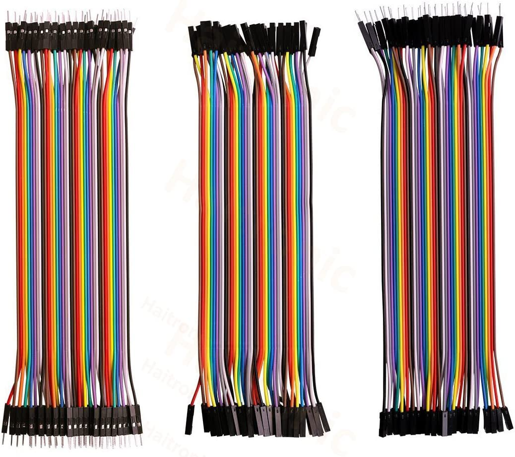 """120Pcs DuPont Cables 20cm Wire for Arduino Breadboard Reusable 7.9/"""" M-M//M-F//F-F"""