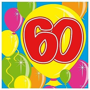 Folat 20stk. Servilletas Número 60 cumpleaños, Aniversarios