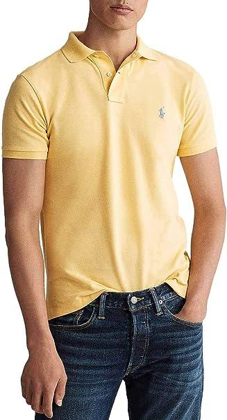 Polo Ralph Lauren Basic Amarillo para Hombre: Amazon.es: Ropa y ...