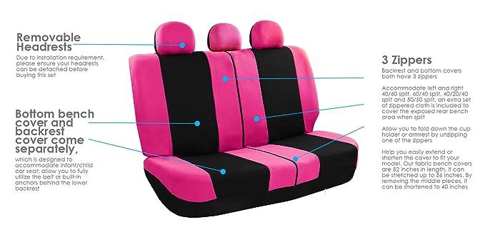 FH GROUP Set de Combo para asiento con funda para volante y ...