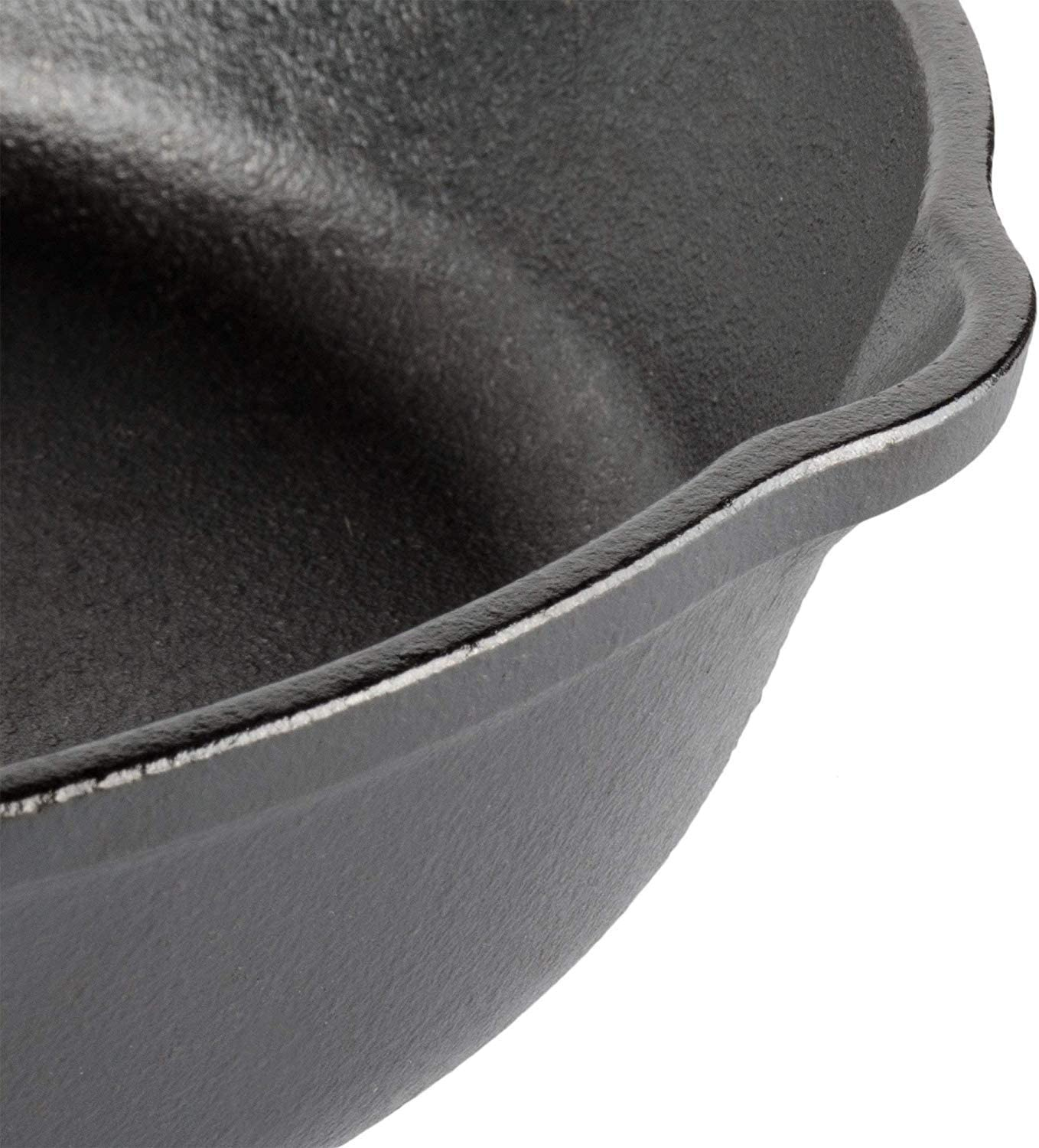 Lodge 13.25 Inch Cast Iron Skillet with Cover, Pre Seasoned and Ready for Stovetop, Oven Cooking, Large and Classic for Family Size Meals, Grill, Induction Safe, Bundle includes Salient Home Cookbook