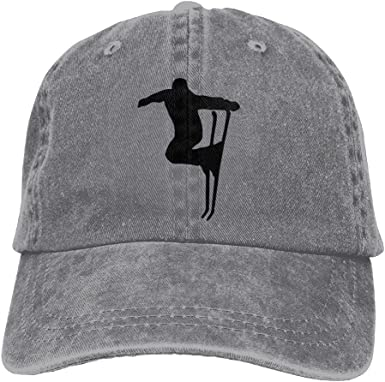 Sport Skiing Ski Trend Printing Cowboy Hat Fashion Baseball Cap For Men and Women Black
