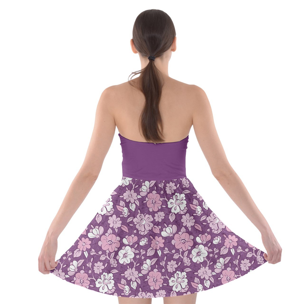 e912353e04 PattyCandy Womens Stylish Flowers Design Tube Top Bra Strapless Dress