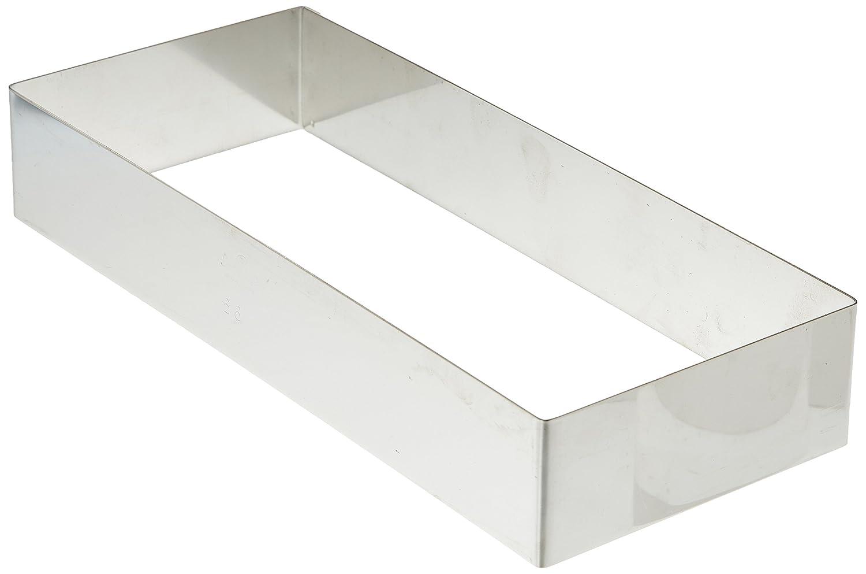 DECORA 0063760 Rettangolo, Acciaio Inox, Argento, 7 x 11 x 4.5 cm teglie; stampi