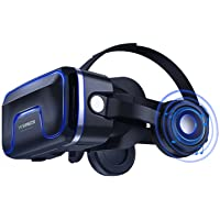 VR Headset Virtual Reality Headset 3D VR Goggles - Compatible for iph X 7/7+/6s/6 +/6/5, Samsung Galaxy, Huawei, Google, Moto & All Android Smartphone 4.7″-6.0″ inches Adjustable Eye Care System