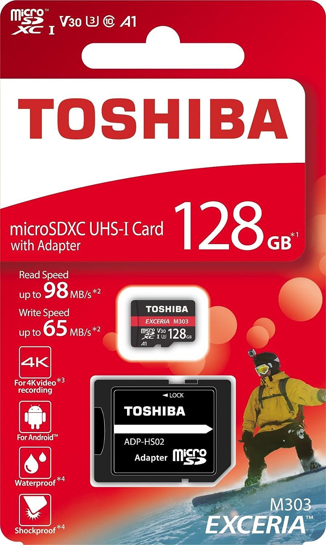 Toshiba Exceria M302 Tarjeta de memoria MicroSDHC, 16 GB, UHS-I, Class 10 color blanco