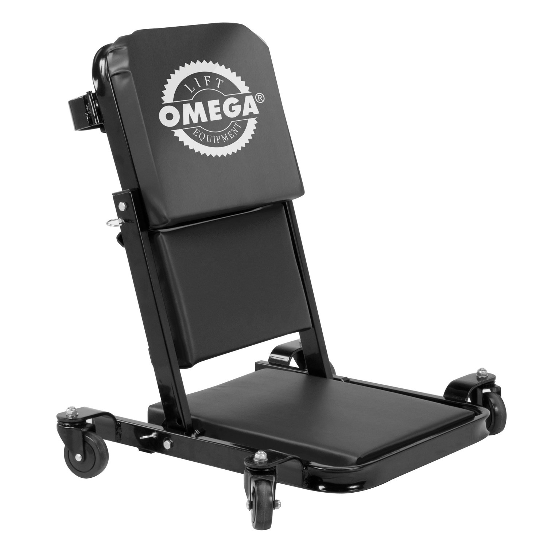 Omega 91452 Black Low Profile Z-Creeper - 450 lbs. Capacity
