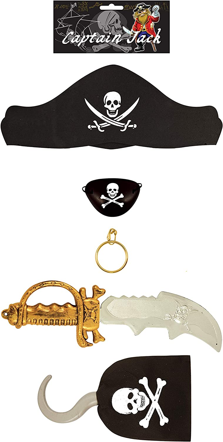 Niño 5 Piezas Set de Accesorios Piratas Para Disfraces: Amazon.es ...