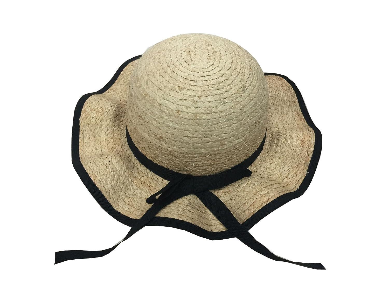 Amazon.com  YueLian Mom and Daughter s Matching Summer Ribbon Sun Hats Set  Off-White  Clothing 866e409252b1