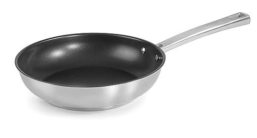 Lacor 45320 Foodie-Sartén con Antiadherente Quantanium, Acero Inoxidable 18/10, 20 cm