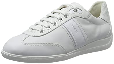 Geox D Myria A, Sneakers Basses Femme, Blanc (Whitec1000), 39 EU