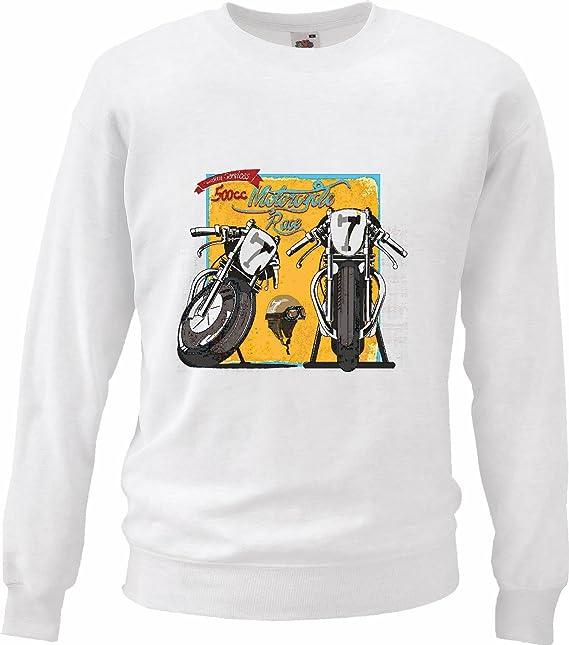 Sudaderas Suéter 500CC Carrera de Moto Camisa Motorista de la Motocicleta Motocicleta del Interruptor del cráneo gótico Club de la Motocicleta Bicicleta ...
