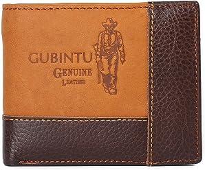 Wallet Men Leather Short Wallet Vintage Cow Leather Casual Man Wallets Purse Standard Card Holders