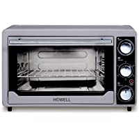 BMS Lifestyle (Howell) 24-Litre BMS-FE2436V Multi-Function Stainless Steel with Timer - Toast - Bake - Broil Settings, Natural Convection - 1380 Watts of Power, Includes Baking Pan,White(OTG)