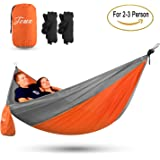 Touz Hammock Single & Double Camping Portable Parachute Hammock for Outdoor Hiking Travel Backpacking -Nylon Camping Hammock