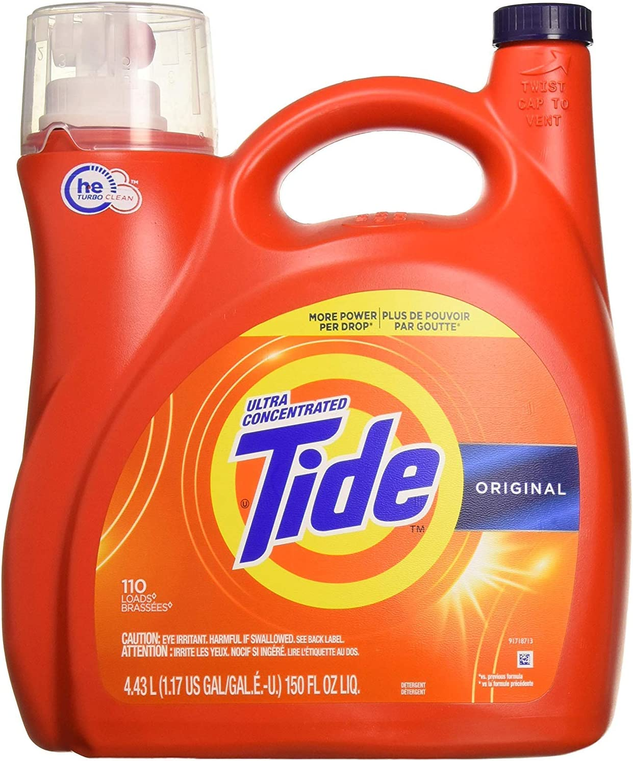 Tide High Efficiency, Ultra Concentrated Liquid Laundry Detergent - 110 Loads