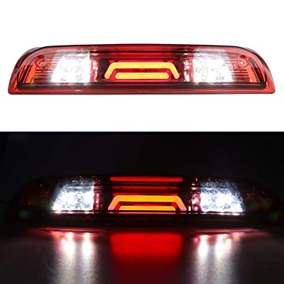 for 2014-2020 Chevrolet Chevy Silverado/GMC Sierra 3rd Third Brake Light Tail Lamp High Mount Cargo Lights (Red Lens): Automotive